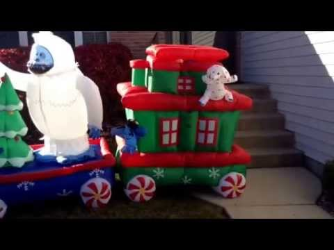 gemmy 16 rudolph the red nosed reindeer and the misfits airblown inflatable train
