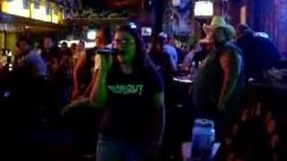 Me singing Trick Pony's Pour Me, Karaoke Style