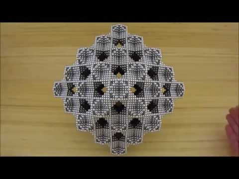 Layered Cuboctahedron Frame Octahedron Lattice Rhombic Dodecahedron (Zen Magnets)