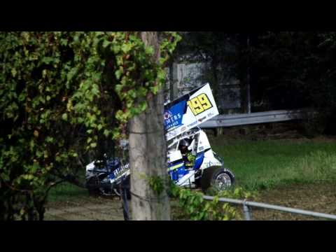 9-9-2016 UMSS Sprints Princeton Speedway Ryan Bowers Heat Flip