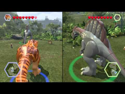 Lego jurassic world spinosaurus unlock location gam for T rex location