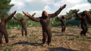 Танец обезьян под песню Грибы_Тает лед