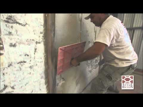 Wall Overlays Vertical Concrete Stamping Youtube