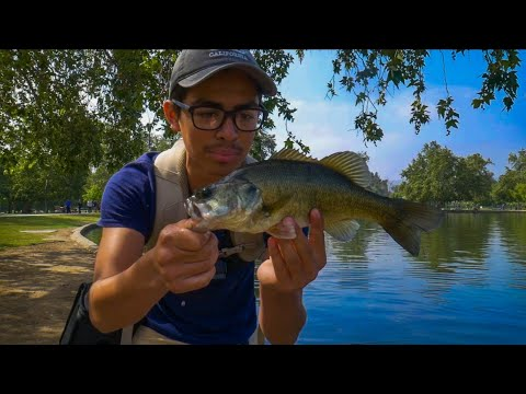 Fishing For Largemouth Bass At Balboa Lake