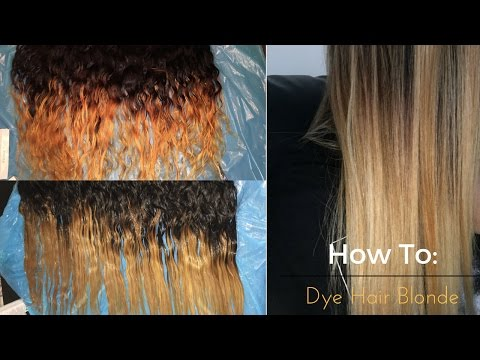HowTo: Get Rid of Brassy Weave   Dying Hair Blonde