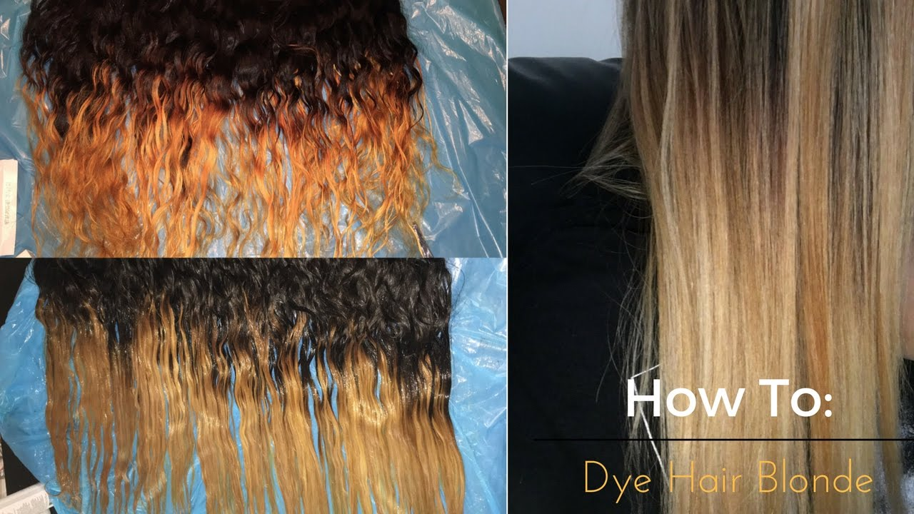 Howto Get Rid Of Brassy Weave Dying Hair Blonde Youtube