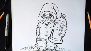 как рисовать  граффити характер(граффити музыка (Audiomicro.com), 2014-10-08T02:10:48.000Z)
