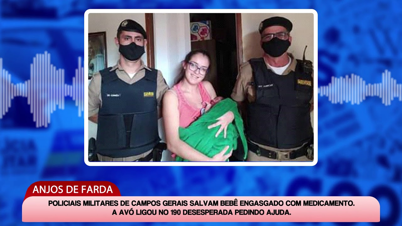 Policiais Militares de Campos Gerais salvam bebê engasgado com medicamento
