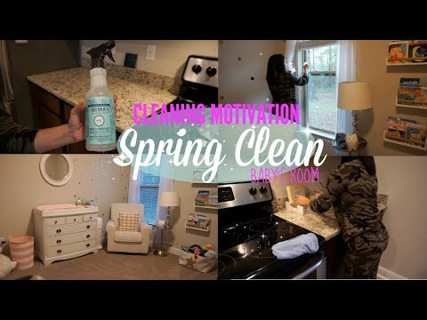 CLEAN WITH ME 2018// SPRING CLEANING BABY'S ROOM //CLEANING MOTIVATION
