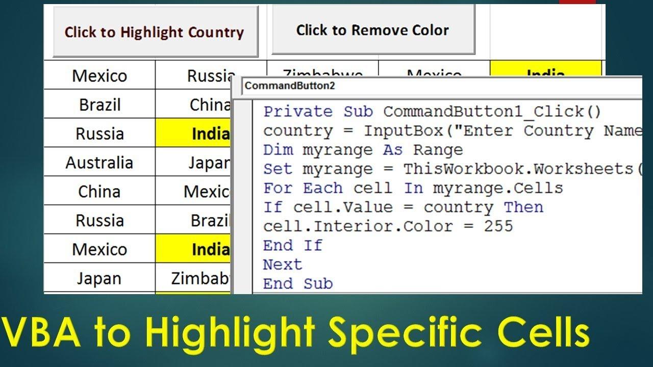 Excel Vba Font Color