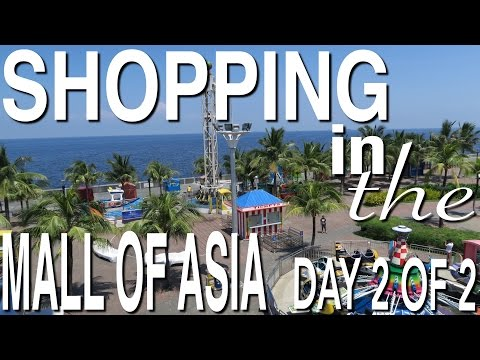 SHOP WITH ME! VISITING THE GIANT MALL OF ASIA - THE 13TH LARGEST MALL IN THE WORLD! DAY 2 OF 2