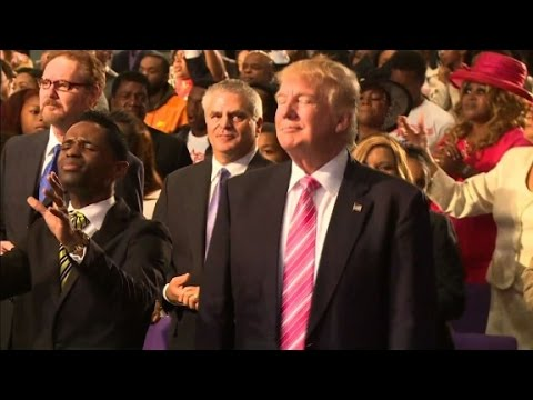 Donald Trump dances at church service