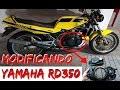 MODIFICANDO LA YAMAHA RD350 (CLEAR CLUTCH COVER MOD)
