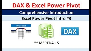 Msptda 15: Comprehensive Introduction To Excel Power Pivot, Dax Formulas And Dax