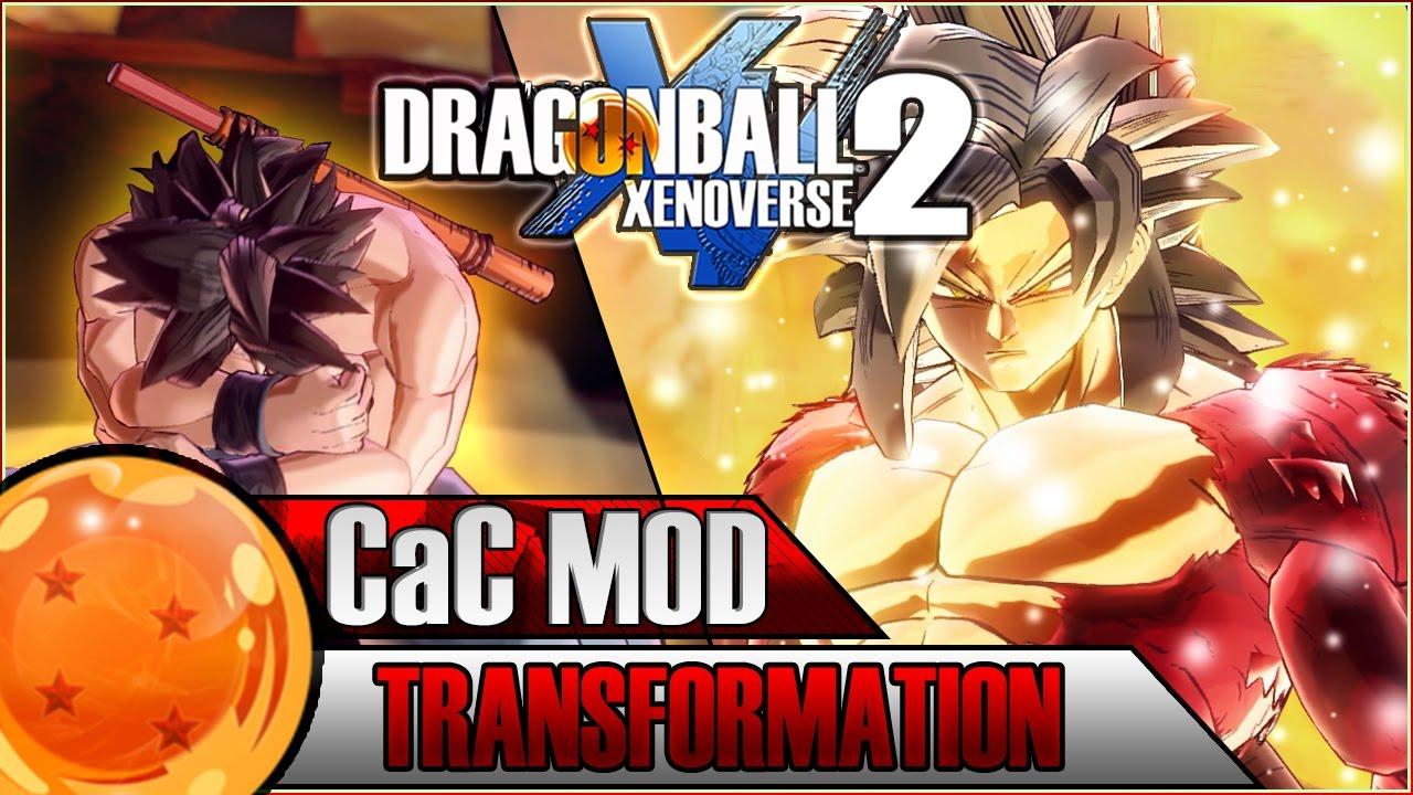 SUPER SAIYAN 4 CAC TRANSFORMATION | Dragon Ball Xenoverse 2 MOD