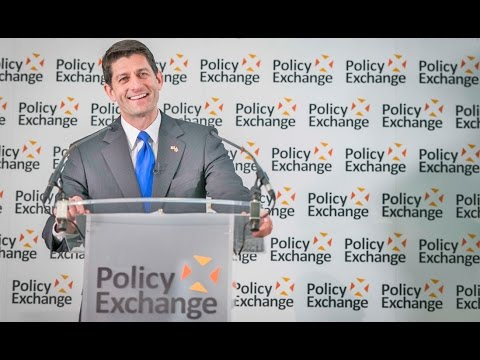 Hon Paul Ryan, Speaker of the US House of Representatives, speaks at Policy Exchange