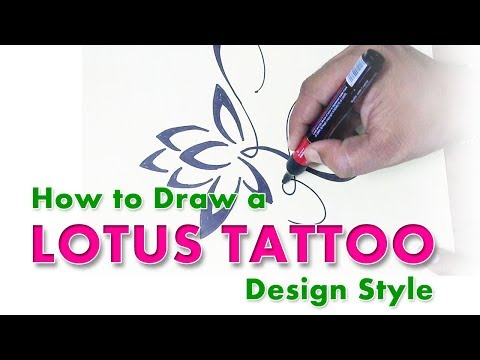 How To Draw A Lotus Tattoo Design Style L NISAR