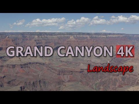 Ultra HD 4K Grand Canyon Travel Arizona Tourism USA Tourist Attraction Landscape Video Stock Footage