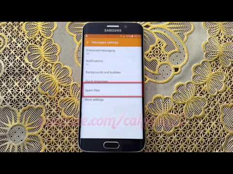 How to block text messages from specific number in Samsung Galaxy S6 or S6 Edge
