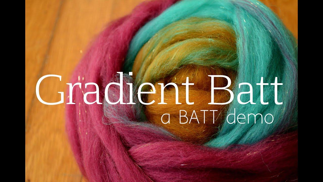 BATT Book Trailer: How to Spin a Gradient Yarn from a Batt