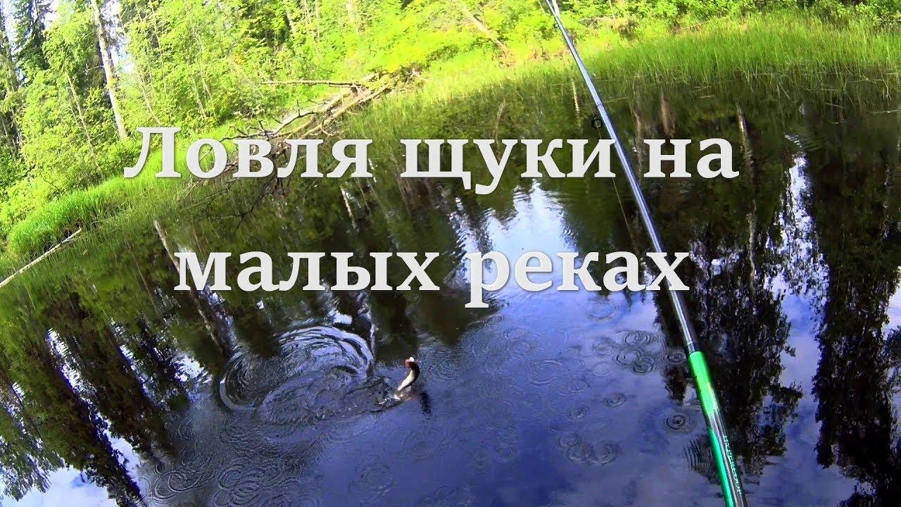 ловля щуки на спининг на малых реках