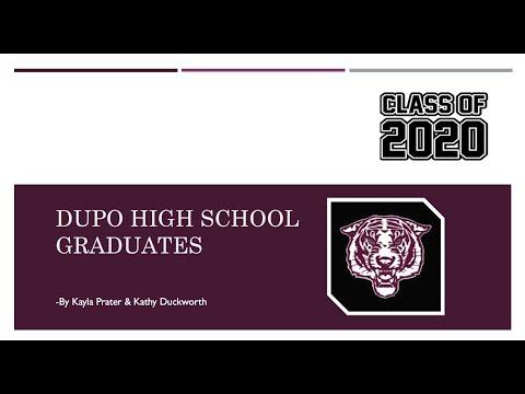 Dupo High School Graduates 2020
