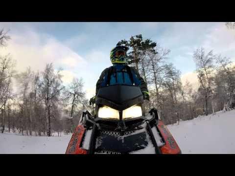 Тест снегохода Polaris 800 PRO RMK 155 2,6 на УРАЛЕ  Часть I