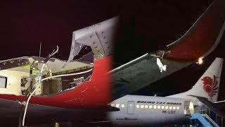 Download Video Video Pesawat Lion Air Tabrak Tiang di Bandara Fatmawati Bengkulu, Sayap Pesawat Rusak MP3 3GP MP4