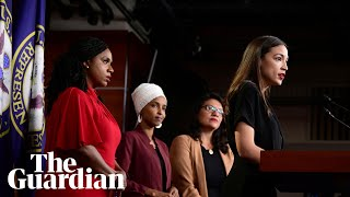 'We will not be silenced': squad Democrats decry Trump attacks