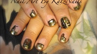 Military/Camouflage Style Nails Art Tutorial