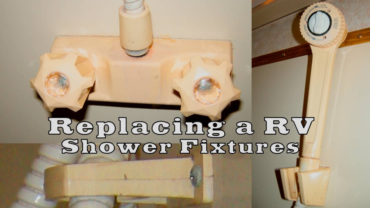Replacing your RV shower fixtures - YouTube