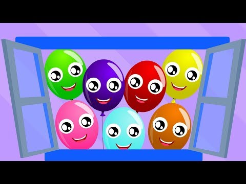 The Balloon Song | Little Red Car Cartoons | Nursery Rhymes & Children Songs - Kids Channel