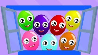 The Balloon Song   Little Red Car Cartoons   Nursery Rhymes & Children Songs - Kids Channel