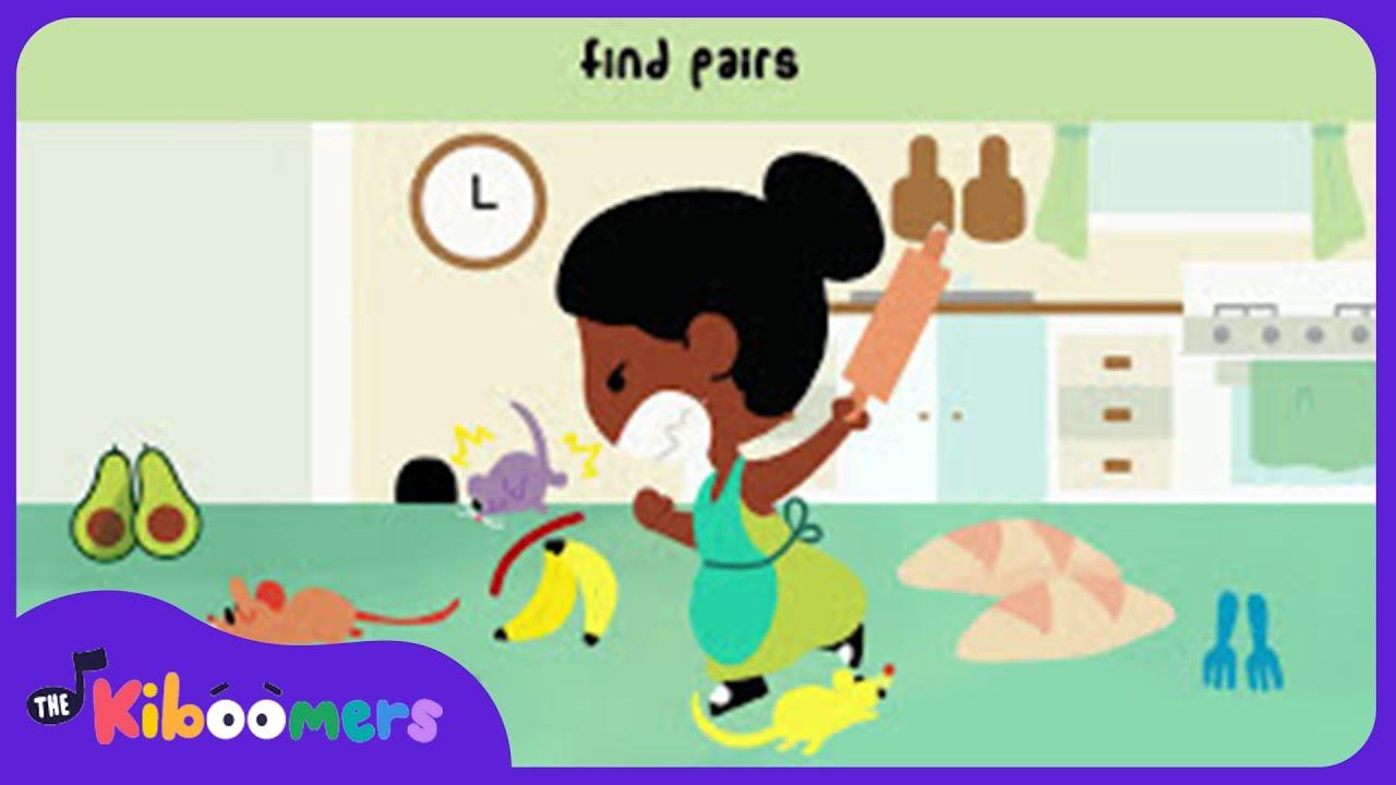 Three Blind Mice Nursery Rhyme | Kids Song | Kids Game | The Kiboomers