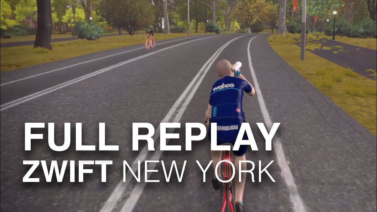 Zwift Everything Bagel Full Replay! New York Central Park Course (12 9 iPad  Pro Screencast)