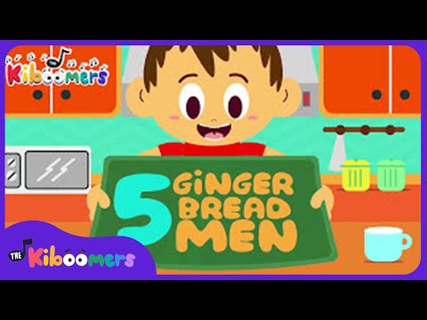 Five Gingerbread Men Song for Kids | Christmas Songs for Children | Gingerbread Man | The Kiboomers