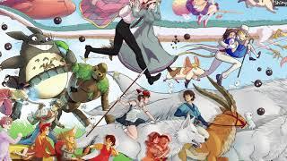 지브리 오케스트라 OST 모음, 공부할때 or 잠 잘때 듣는 음악, 10시간 연속 재생 (1시간 후 검은색 화면 지속) Ghibli Orchestra Collection