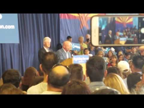 Bill Clinton in Tucson, AZ