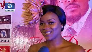 Bryan Okwara Kehinde Bankole Dazzle At NO BUDGET Premiere  EN