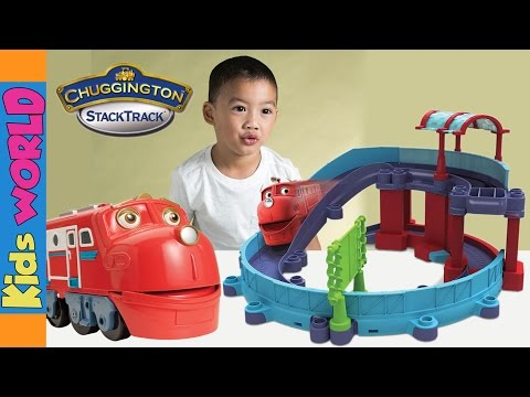Chuggington Wilson Stacktrack Checker Station Unboxing Toy Review | Charlies's Kids World