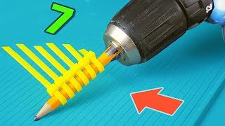 7 HACKS WITH DRILL MACHINE
