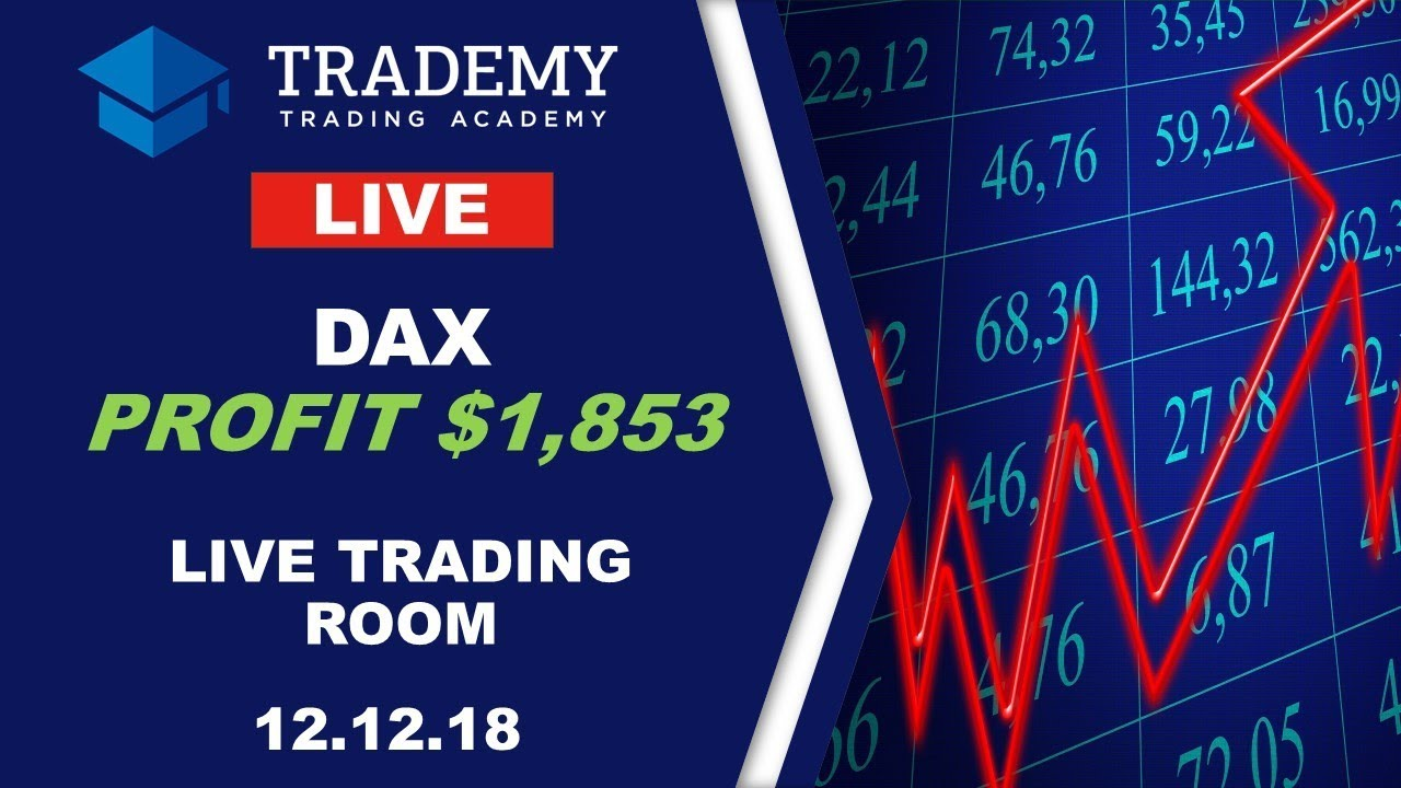 Trademy Live Trading Room 12 12 18 Profit Of 1 853 On Dax