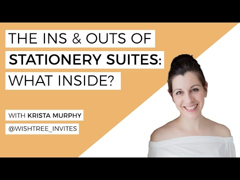 "What Is A ""Stationery Suite"", And What's Inside? LIVE With Krista Murphy"