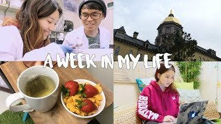 A WEEK IN MY LIFE at COLLEGE l NOTRE DAME PRE-MED