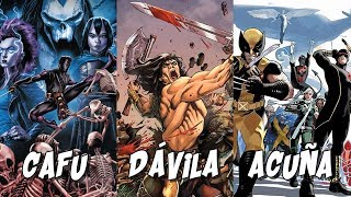 Trabajar dibujando superhéroes, con CAFU, Sergio Dávila y Daniel Acuña