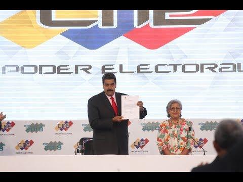 """Maduro tras ser proclamado: """"¡Me dedicaré exclusivamente a la batalla contra la guerra económica!"""""""