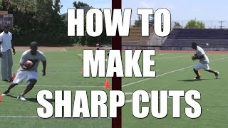 How to make running back sharp cuts : Football Tips