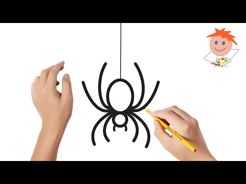 how-to-draw-a-spider-easy-step-by-step-|-drawing-for-kids-💖