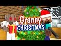 Monster School : Granny Horror CHRISTMAS Challenge - Minecraft Animation