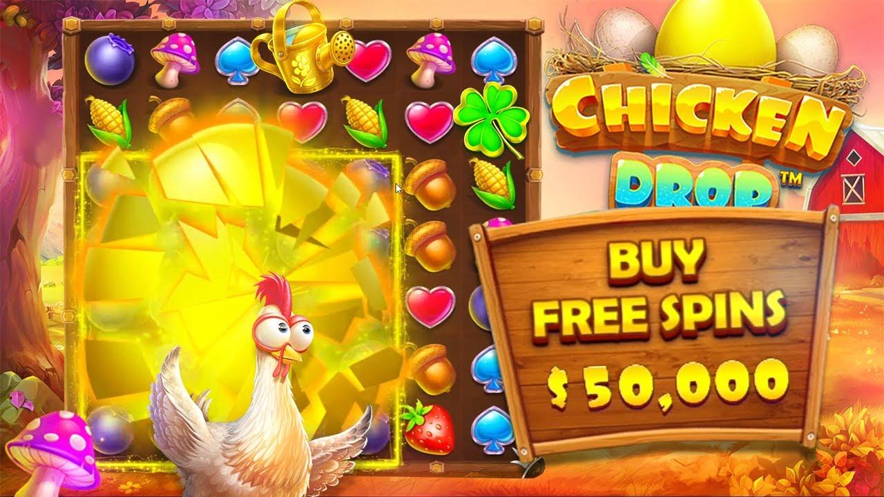 The $50,000 Chicken Drop Slot Bonus Buy!